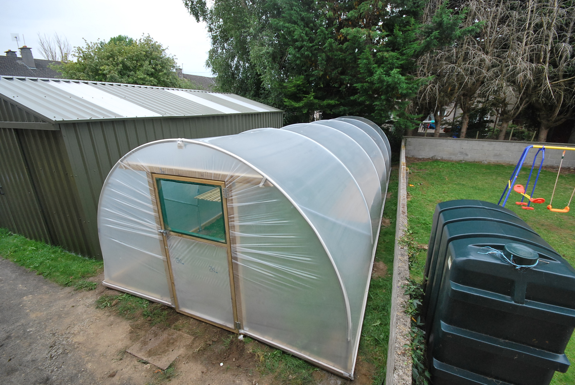 image of garden polytunnel